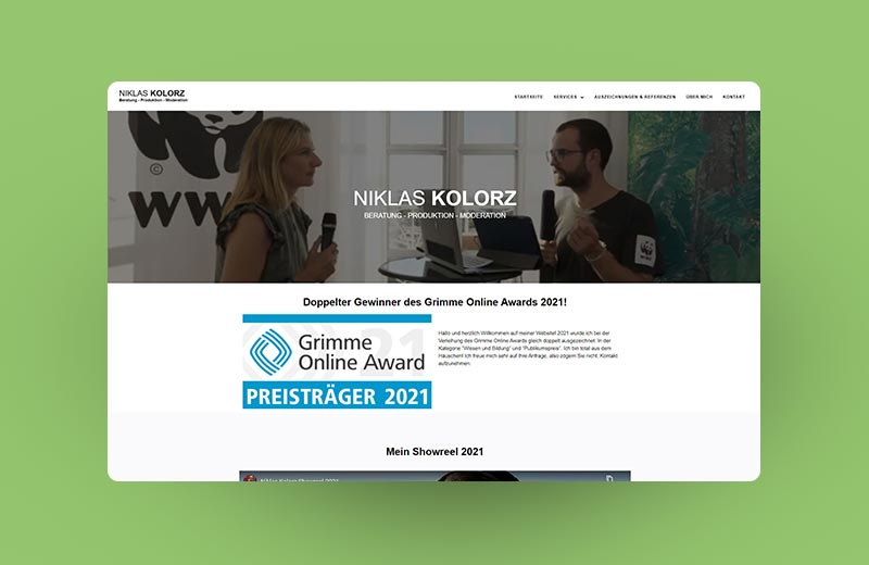 Thumbnail vom Projekt für Niklas Kolorz