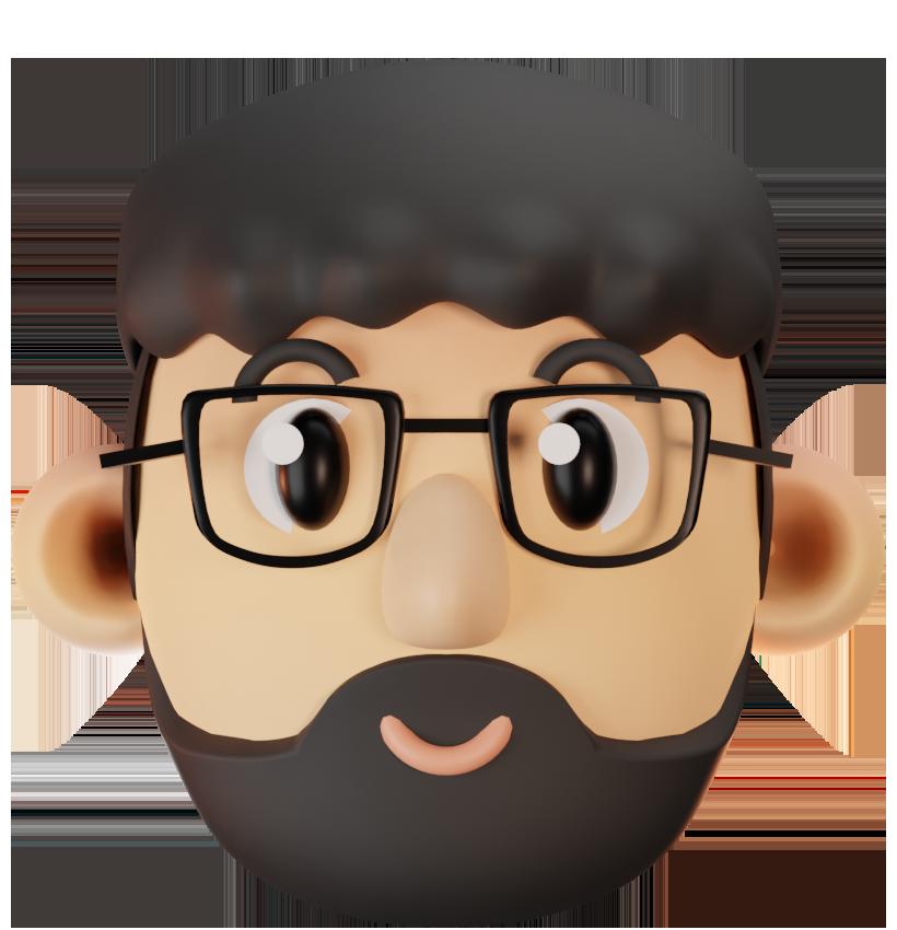 3D Kopf Model von David