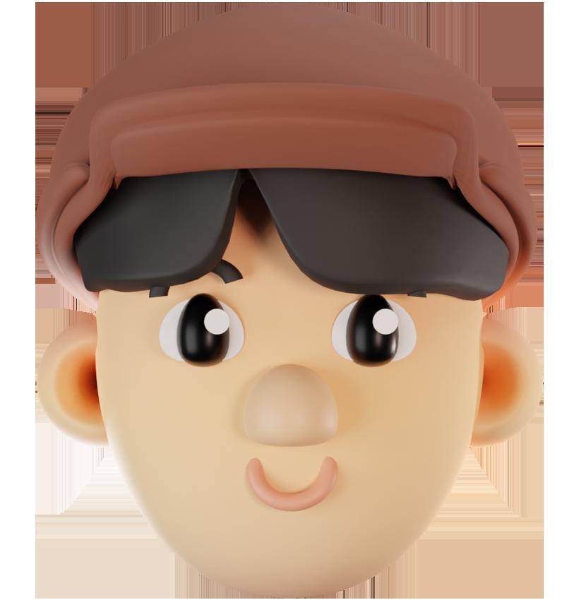 3D Kopf Model von Leon