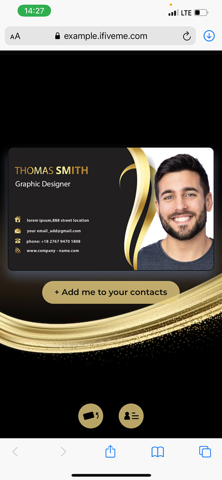Digital business card of john smith