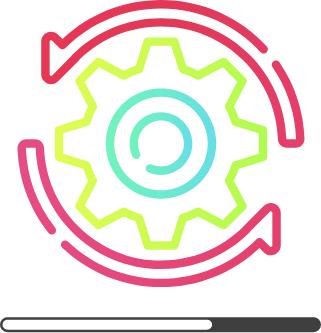 icône d'illustration couleur roue crantée