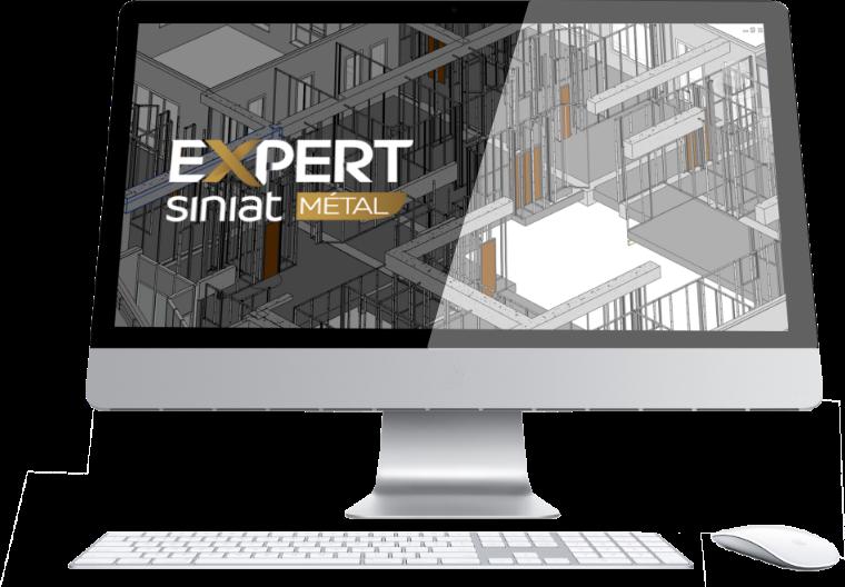 image écran d'ordinateur avec logo Expert siniat métal