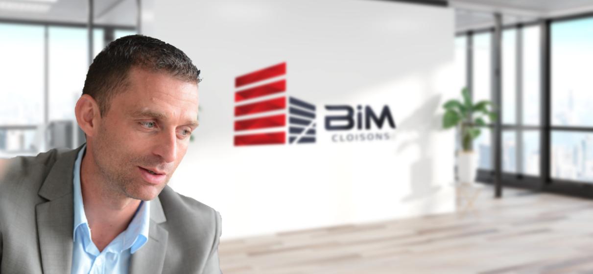 photo Karim Boureguig, dirigeant et fondateur de BiM Cloisons