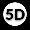 icône d'illustration en noir et blanc 5D