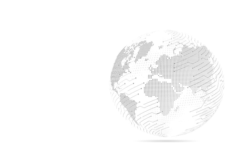 image de la terre en noir et blanc 3D