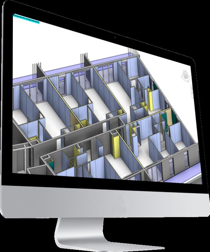 écran ordinateur avec maquette 3D