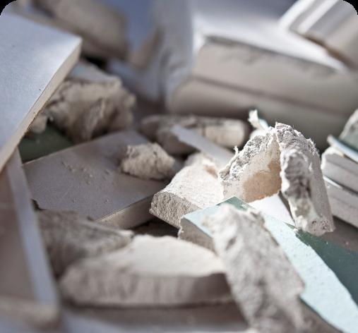 photo déchets plaques de plâtre