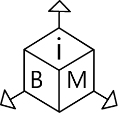 icône d'illustration en noir et blanc 3D BiM