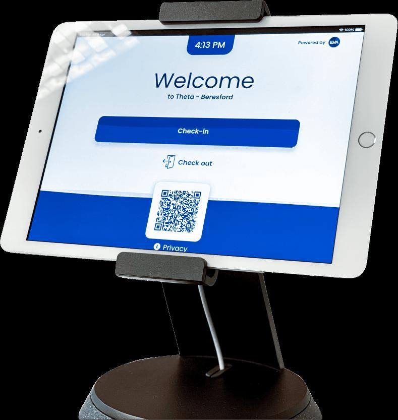 EVA Check-in tablet