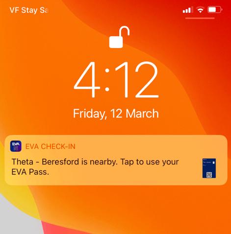 Pass notification