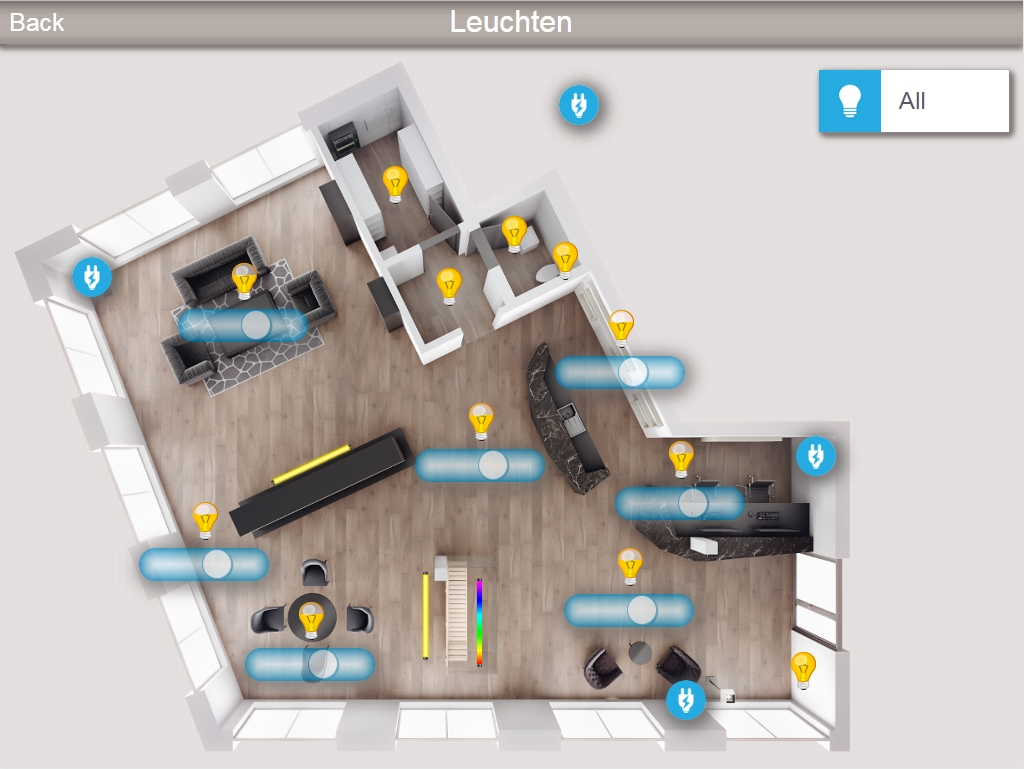 screenshot Touchpanel leuchten