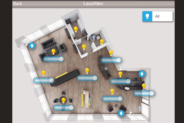 Touchpanel mit Lichtsteuerung