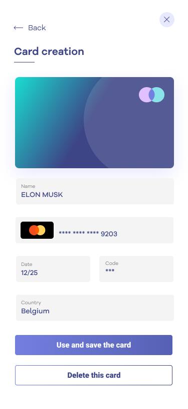 Card creation app image