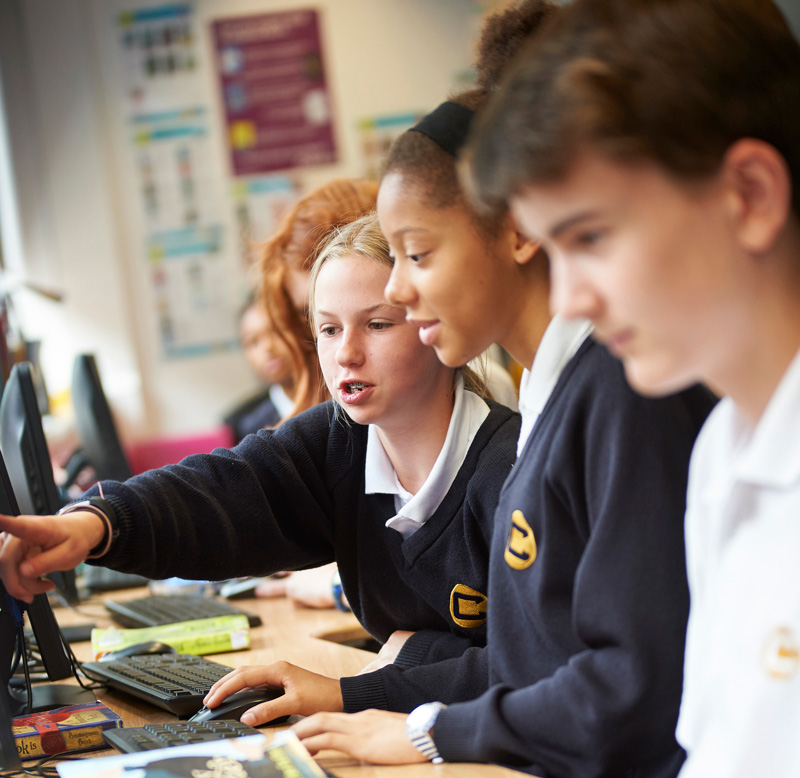 IT lesson at Charter School North Dulwich