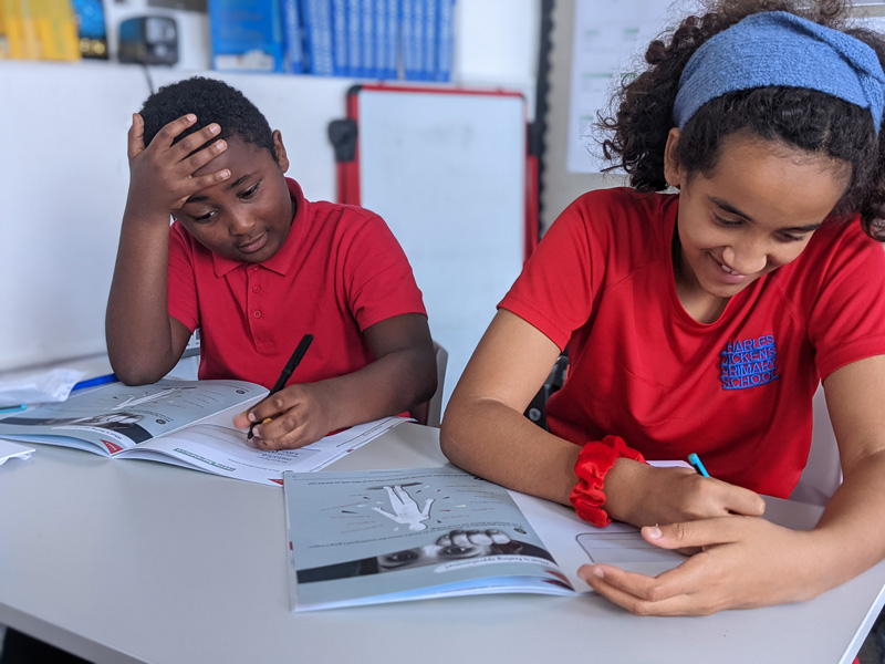 Children enjoying their Wellbeing School lesson