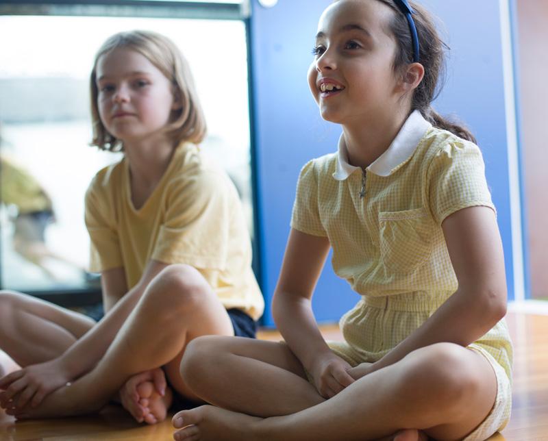 Dance lesson at the Belham Primary School