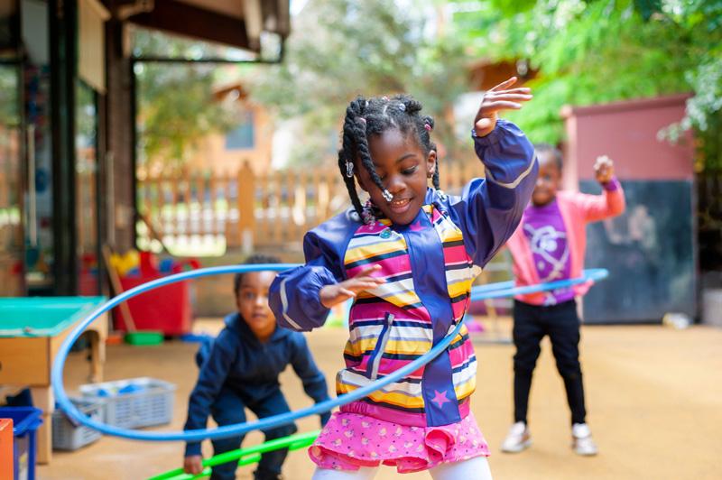 Playtime at Lyndhurst Primary School