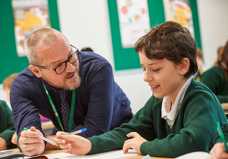 Teacher and pupil at Charter School East Dulwich