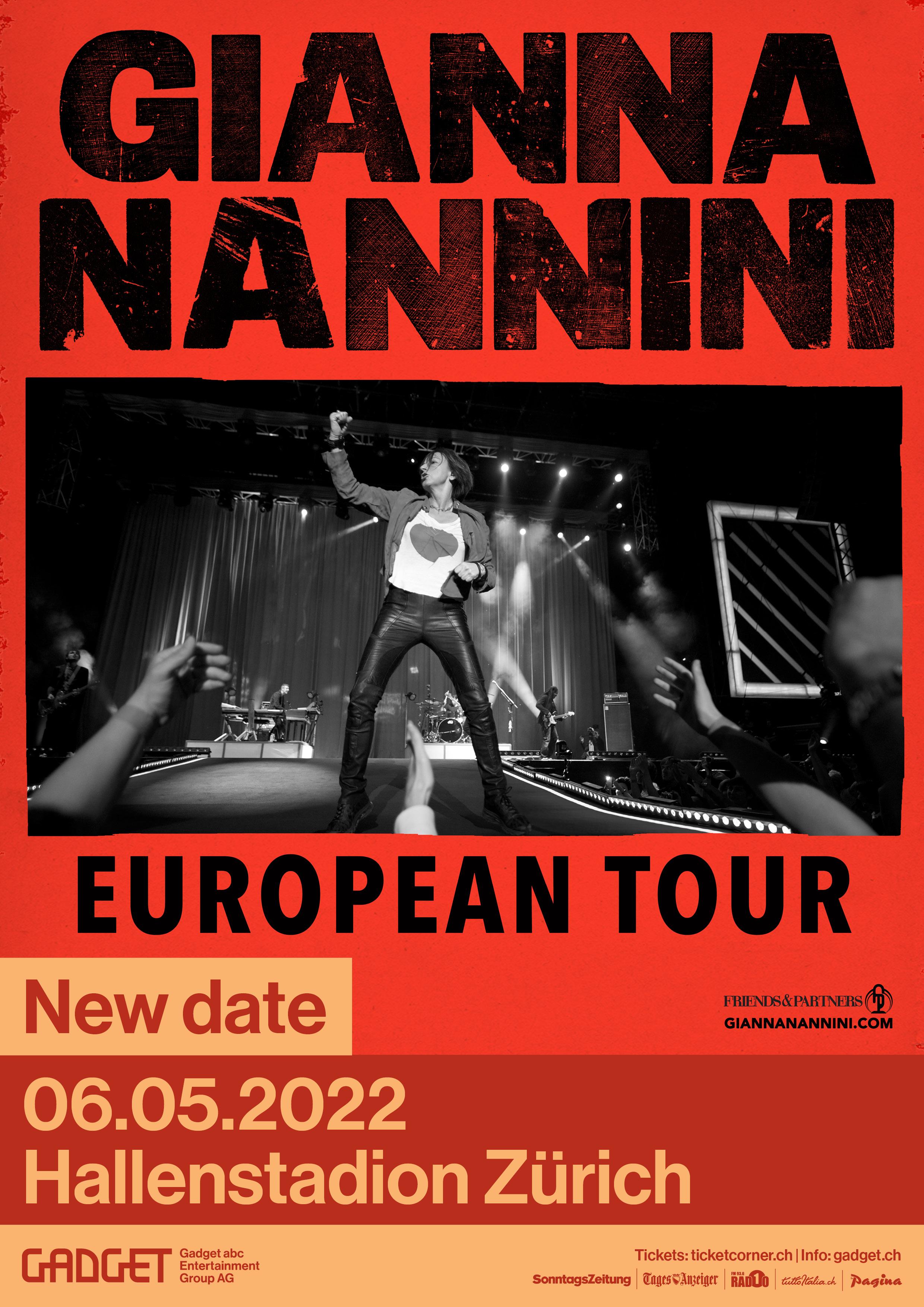 Gianna Nannini im Konzert in Genf 05.05.2022 und Zürich 06.05.2022