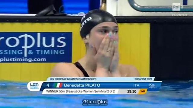 Record del mondo assoluto nei 50 rana per la sedicenne Benedetta Pilato