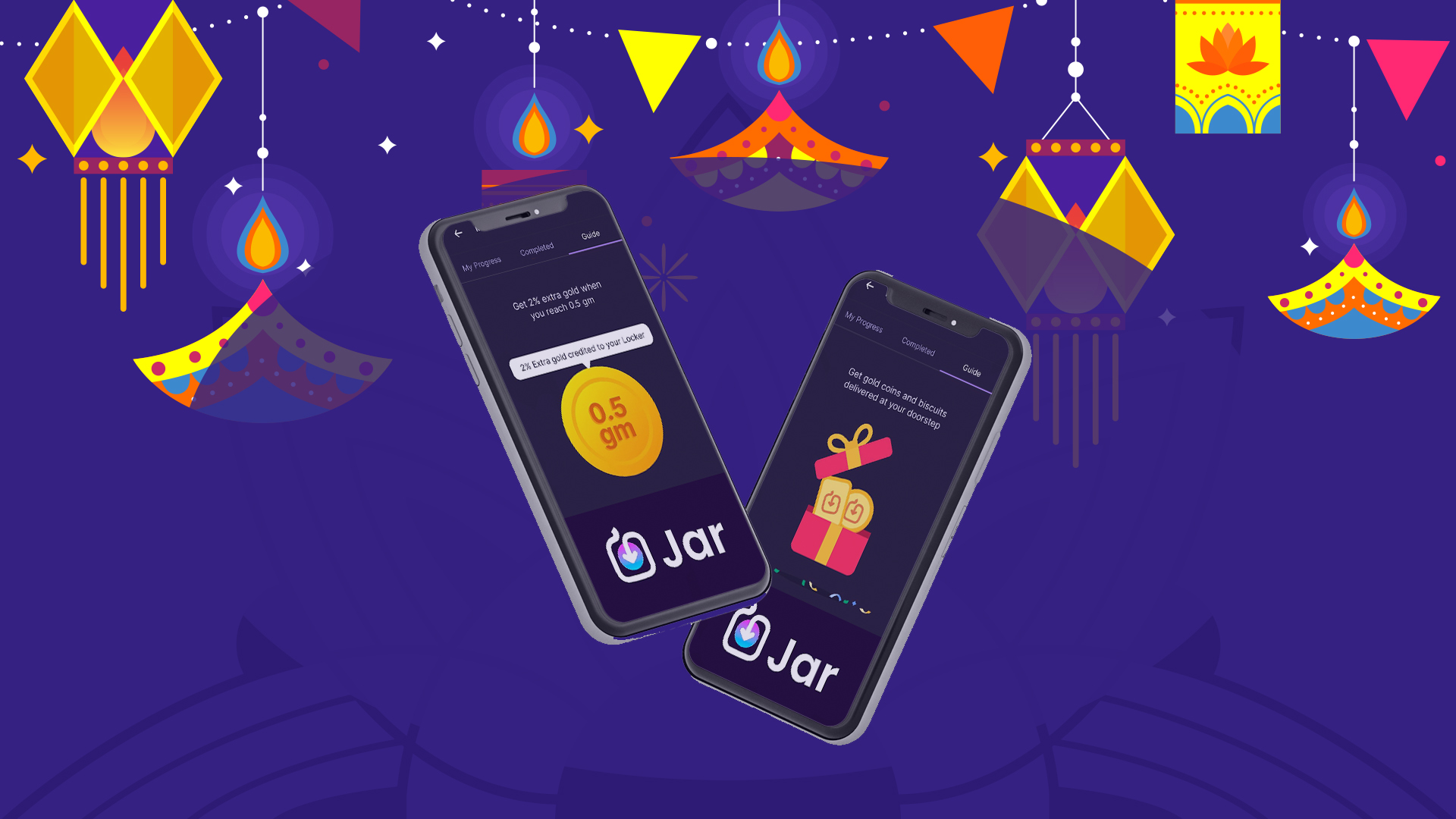 It's Raining Offers at Jar this festive season!  Buy Gold on Jar App Now!
