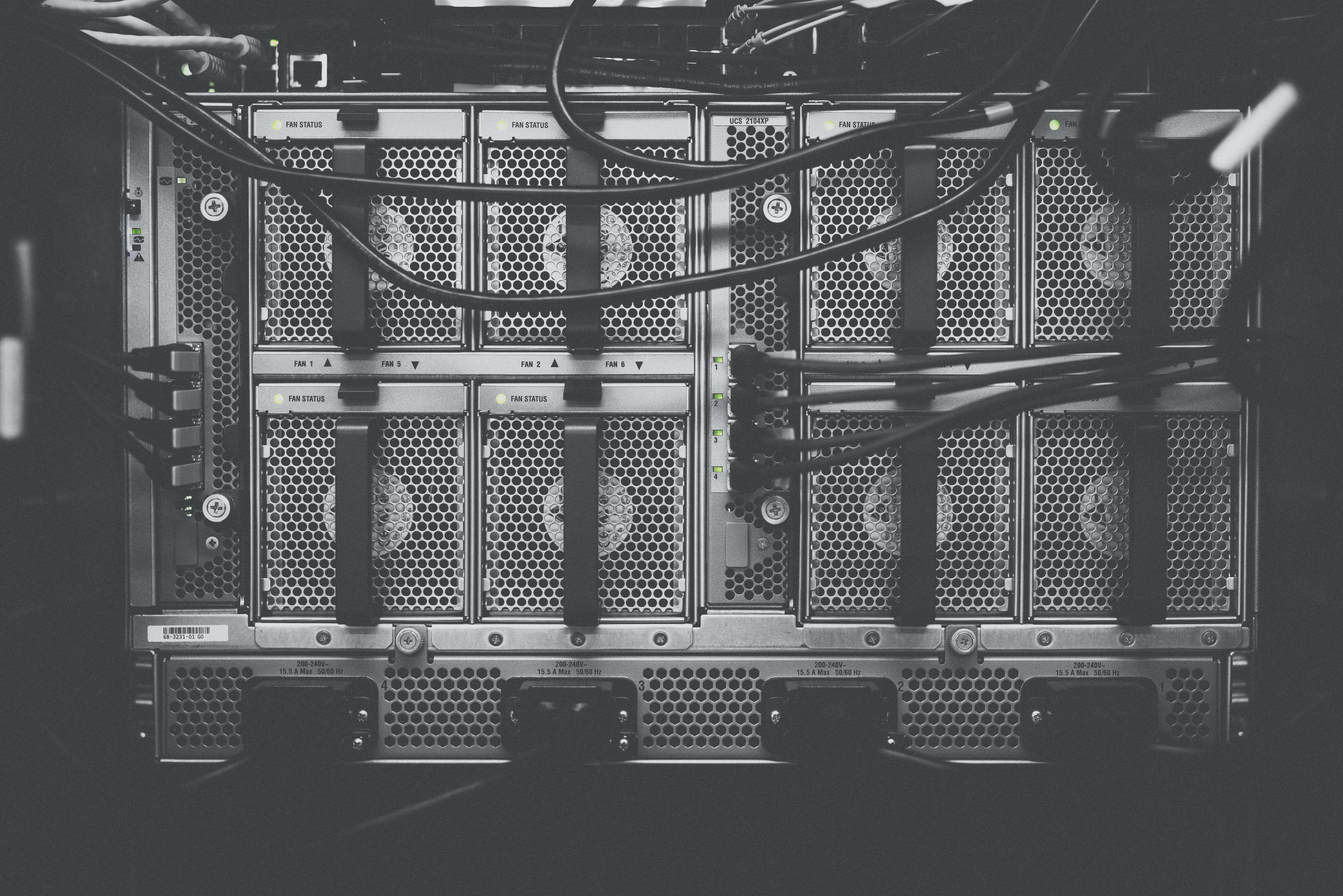 A photo of a server - used as background image