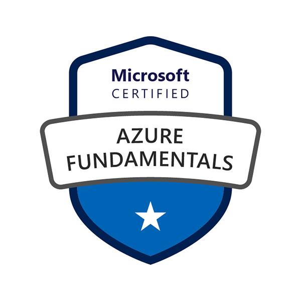Azure Fundamentals certificate image