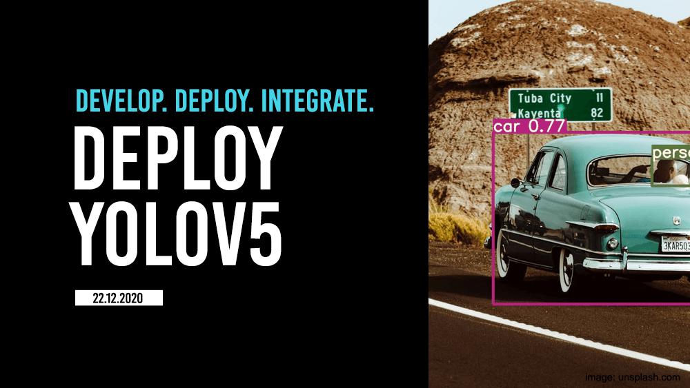 Deploy yolov5 model in a few simple clicks