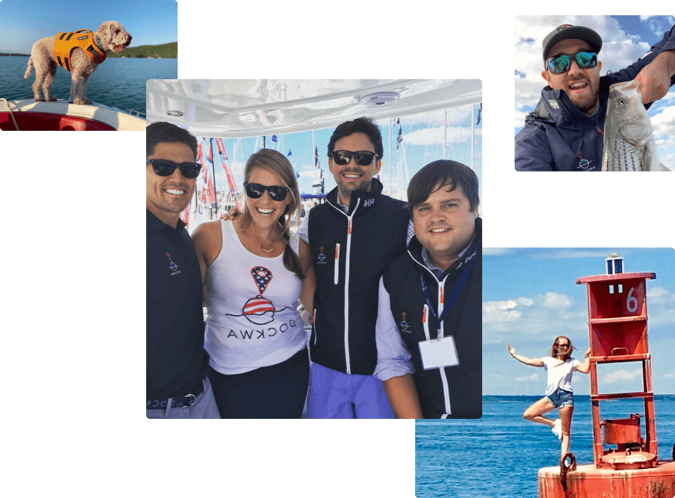 Dockwa employees enjoying their time on the water