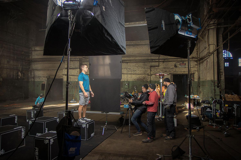 Hidden Woods production crew on a shoot.