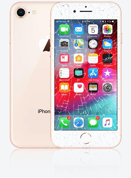 Wymiana zbitej szybki iPhone 8 Gdynia