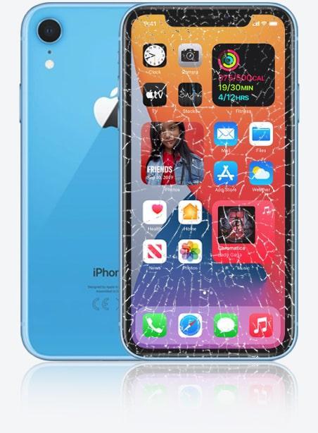 Wymiana zbitej szybki iPhone XR Gdynia