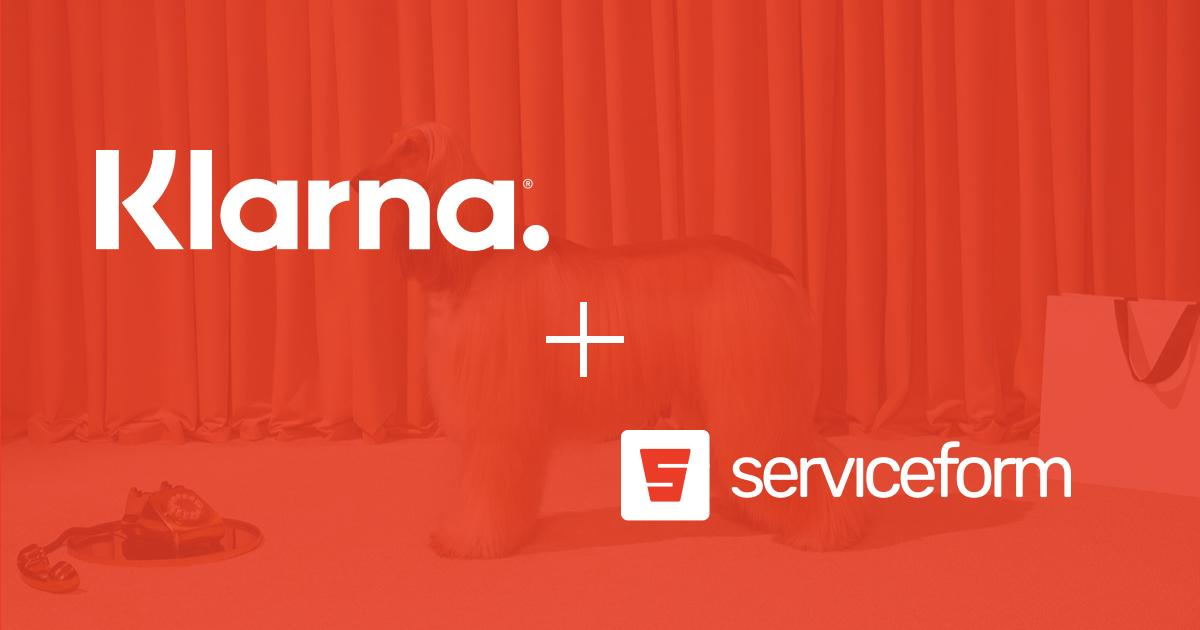 Create Klarna Payment Forms with Serviceform