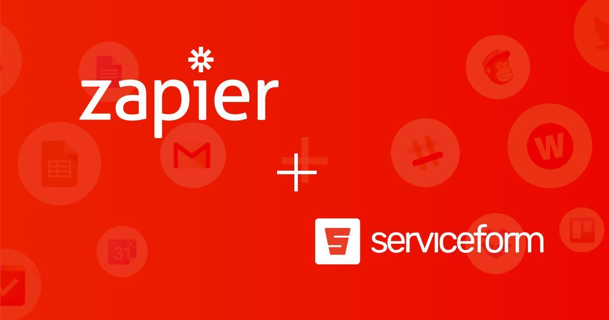 Serviceform has released a Zapier Webhooks integration
