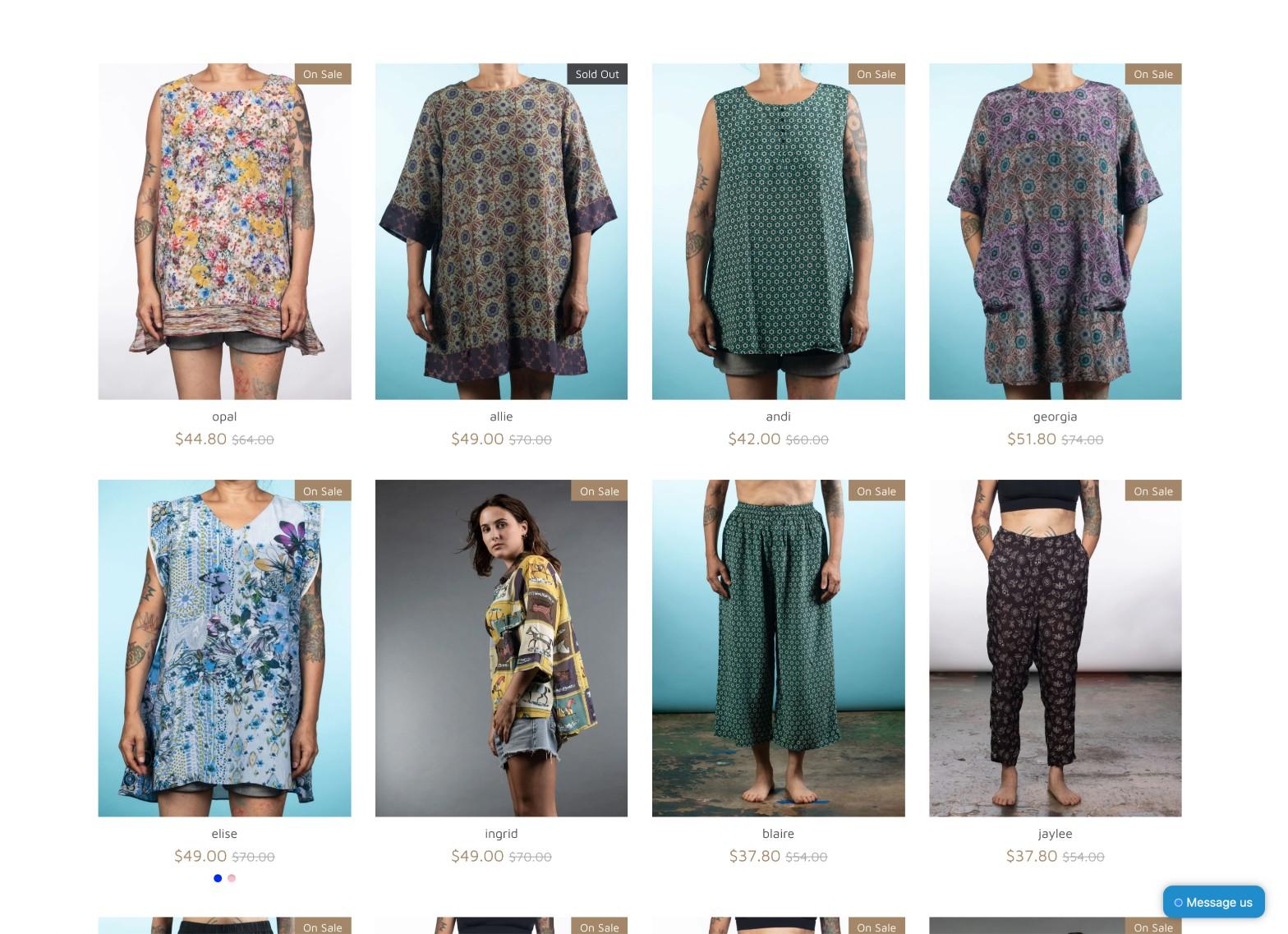 e-commerce womenswear boutique