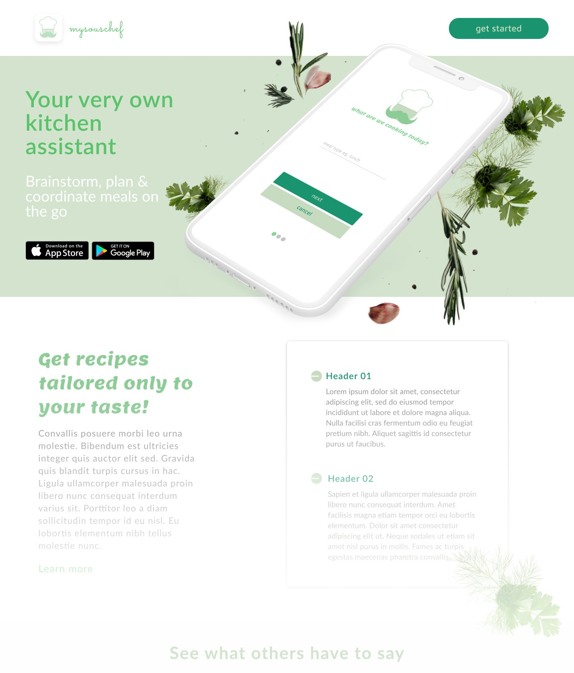 Your very own kitchen assistant  - start cooking from anywhere!