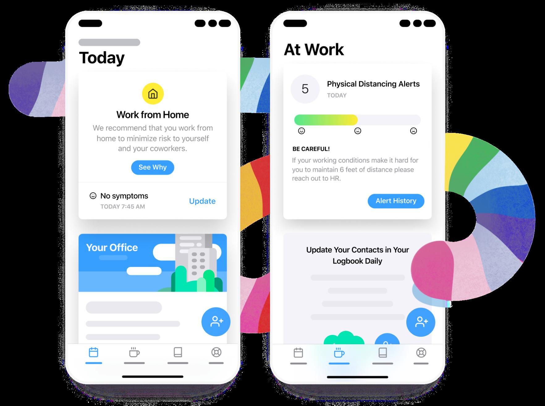 Screenshot of Returnsafe mobile design