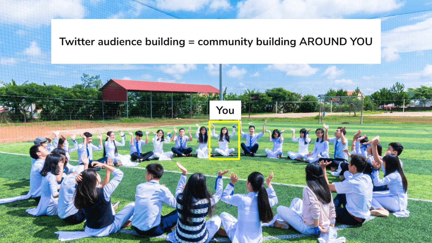 Audience building is community building around you