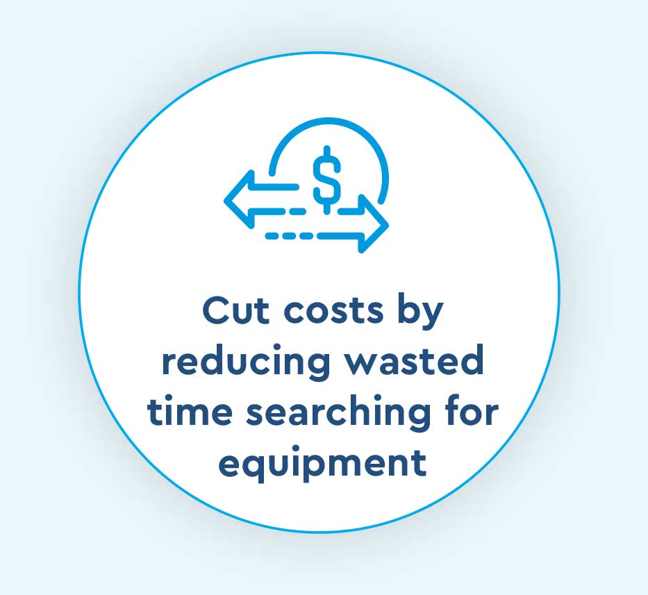 cut costs by reducing wasted time searching for equipment icon for Cox Prosight