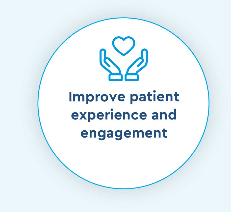 improve patient experience and engagement icon for Cox Prosight
