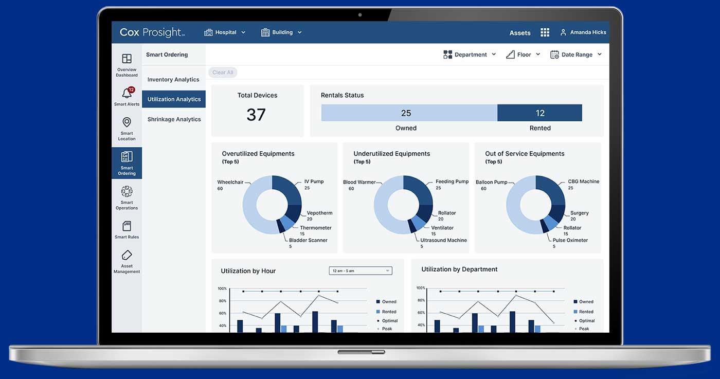 screenshot of Cox Prosight Smart Ordering