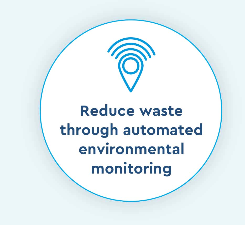 reduce waste through automated environmental monitoring icon for Cox Prosight