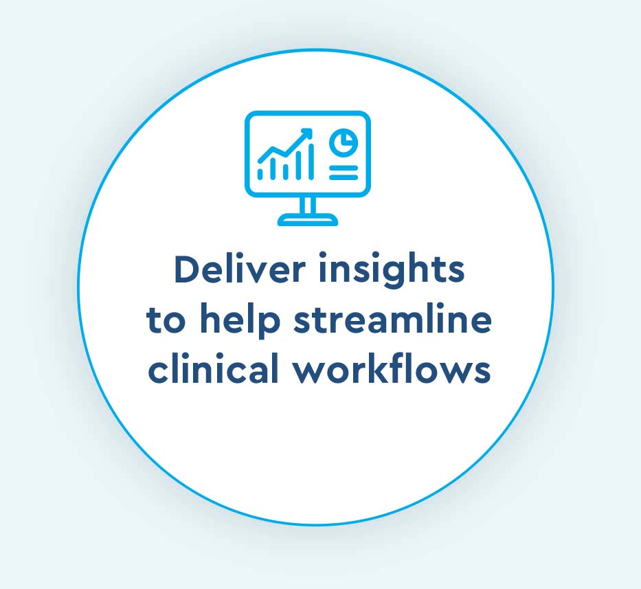 insights help streamline clinical workflows icon for Cox Prosight
