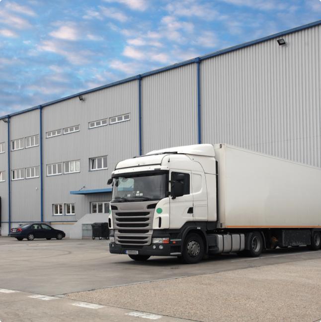 truckload at warehouse