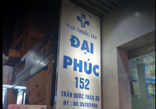 Nhà Thuốc Tây Đại Phúc - 52 Trần Quốc Thảo, Phường 14, Quận 3, Thành phố Hồ Chí Minh