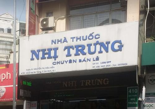 Nhà Thuốc Nhị Trưng - 410 Hai Bà Trưng, Tân Định, Quận 1, Thành phố Hồ Chí Minh