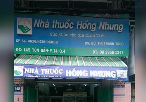 Nhà Thuốc Hồng Nhung - 145 Đường Tôn Đản, Phường 14, Quận 4, Thành phố Hồ Chí Minh