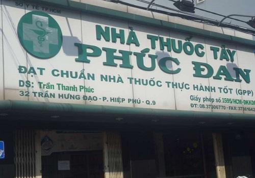 Nhà Thuốc Phúc Đan - 32 Trần Hưng Đạo, Hiệp Phú, Quận 9, Thành phố Hồ Chí Minh