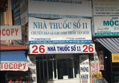 Hiệu Thuốc Số 11 - 26 Nơ Trang Long, Phường 14, Bình Thạnh, Thành phố Hồ Chí Minh