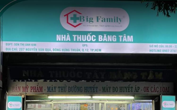 Nhà Thuốc Big Family Băng Tâm, 207 Nguyễn Văn Quá, Đông Hưng Thuận, Quận 12